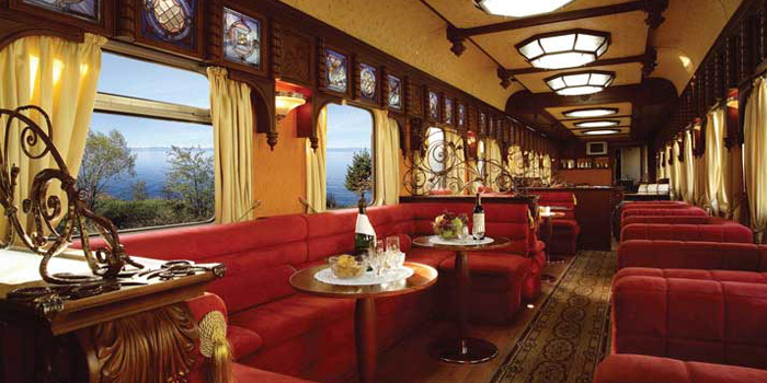 Tren Golden Eagle Express: Salón